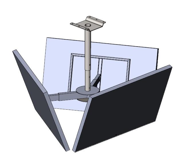 Потолочный кронштейн Аллегри для трех панелей