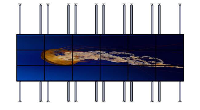 Аллегри напольно-потолочное распорное крепление для видеостен