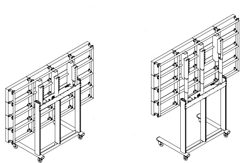 ALG стойка мобильная с выдвижным каркасом для светодиодных панелей